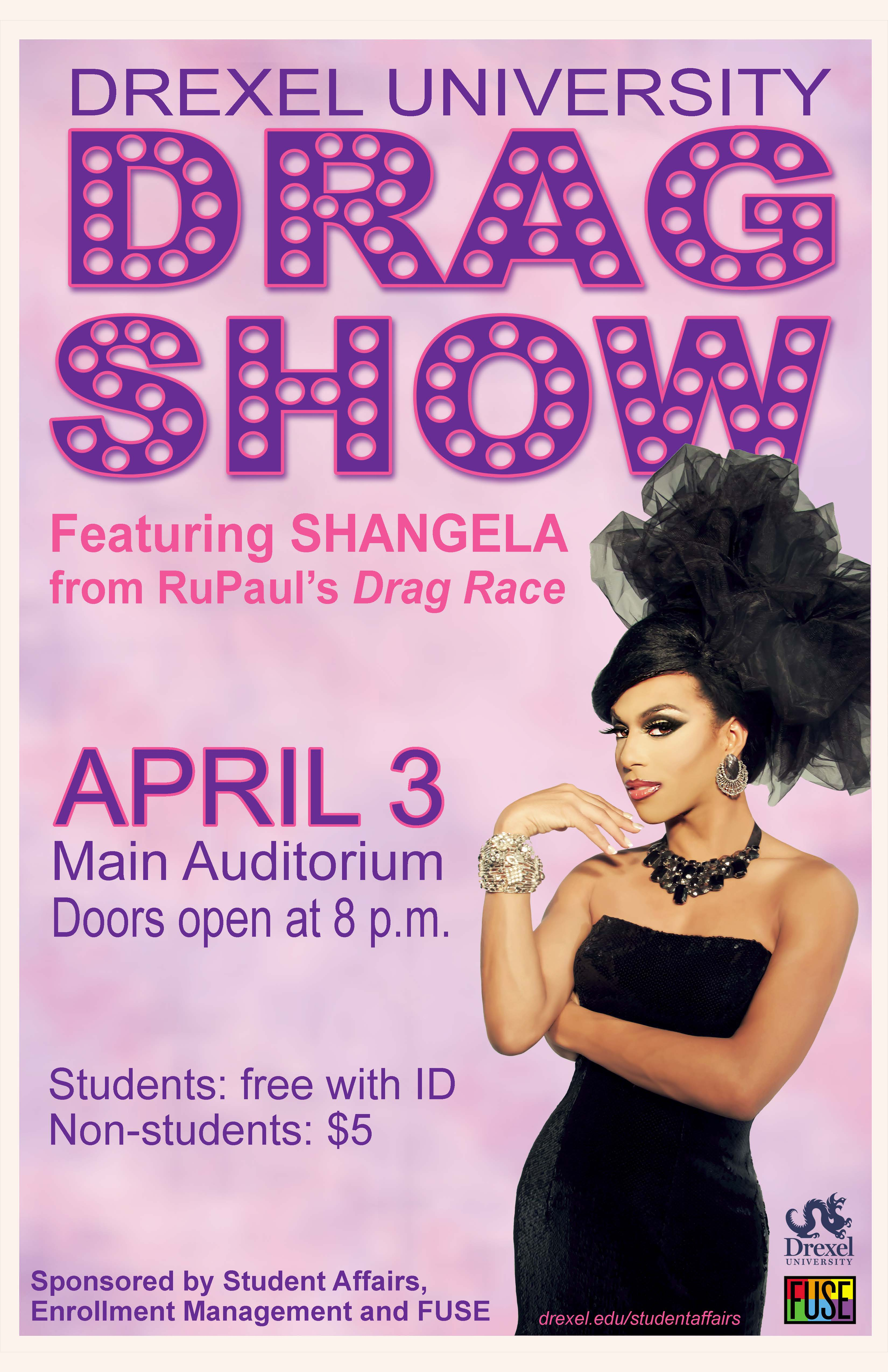 Drexel University Drag Show flyer