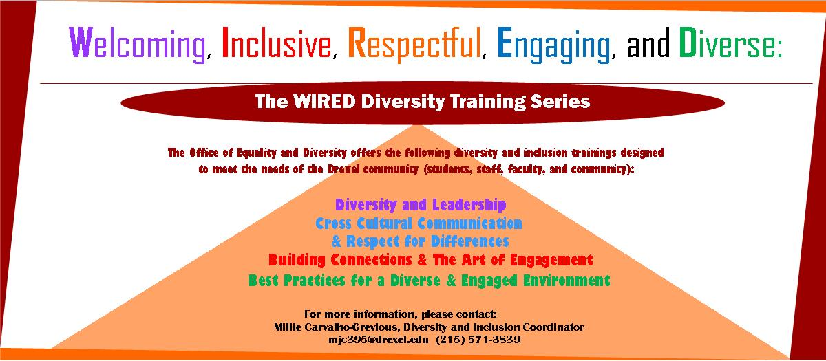WIRED Diversity Training Series Flyer