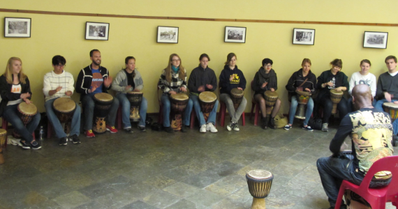 Cape Town, South Africa drum circle and travel-integrated course