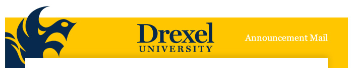 Drexel Announcement Mail