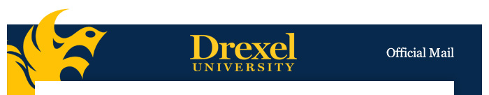 Drexel Official Mail