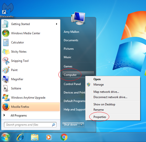 Windows 7 OS Version screenshot 1