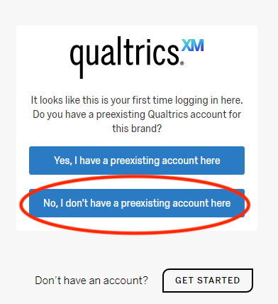 Qualtrics first time log in