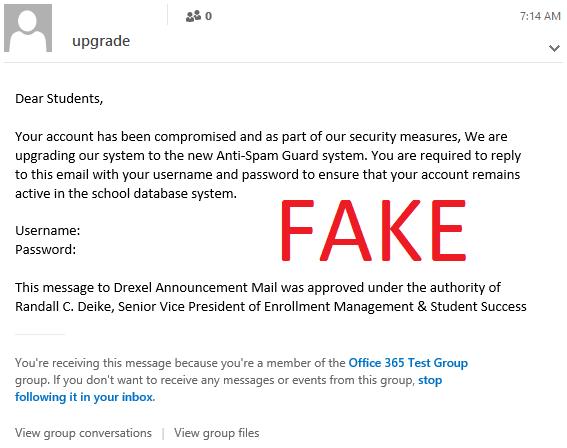 Letter  Media Scam
