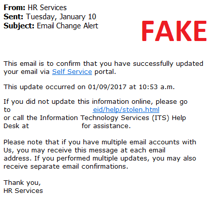 HR Scam Email