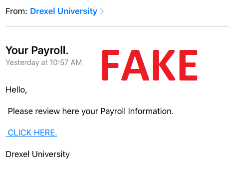 Payroll Scam Email