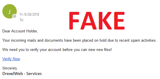 Verify Accounts Scam