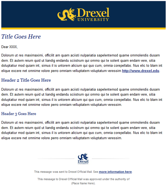Drexel HTML Templates For Email Information Technology Drexel - How to use html email templates