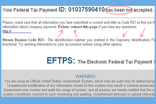 Taxes Email Scam