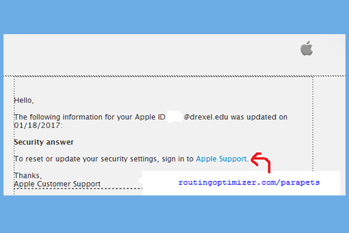 Apple Account Update Email Scam