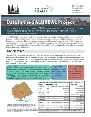 First page of Data in the SALURBAL Project