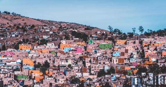 colorful Latin American slums