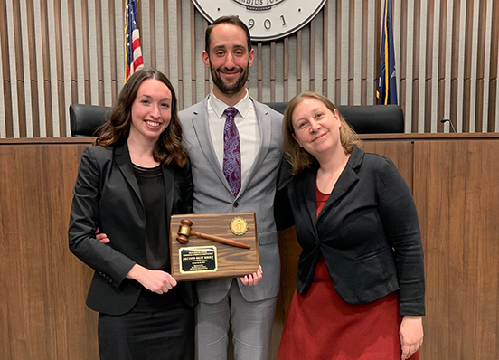 Moot Court Board members win Second-Place Brief at 2019 Jerome Prince Memorial Competition