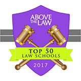 Above the Law ranked the Kline School of Law among the top 50 law schools in the U.S.