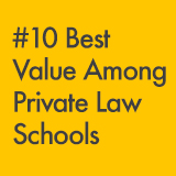PreLaw Magazine Listed Kline as #10 Best Value Among Private Law Schools