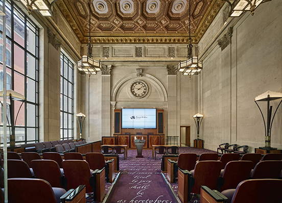 Ceremonial courtroom inside Kline Institute of Trial Advocacy