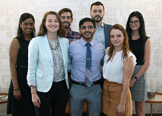 Inaugural cohort of Courtroom and Public Interest Scholars arrive, fall 2018