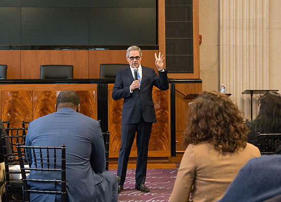 Philadelphia District Attorney Larry Krasner gives keynote at 2018 Liberty and Justice CLE