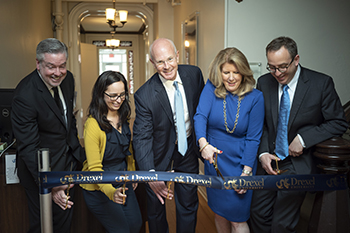 Ribbon cutting ceremony for renaming of the Andy and Gwen Stern Community Lawyering Clinic