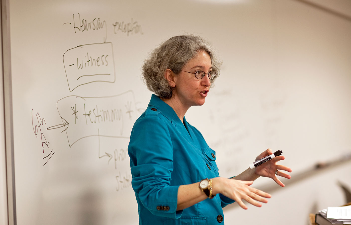 Professor Emily Zimmerman teaches class