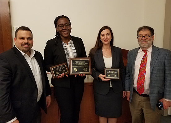 Moot Court Board members win the Nell Hennessy Moot Court Competition