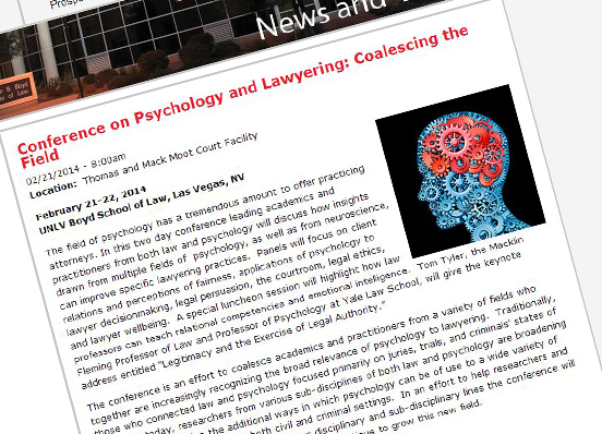 Law and Psychology Workshop