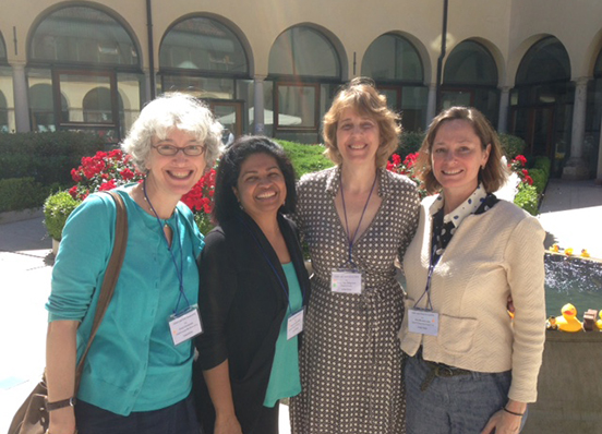 Professors Terry Jean Seligmann, Emily Zimmerman, Reena Parambath and Amy Montemarano