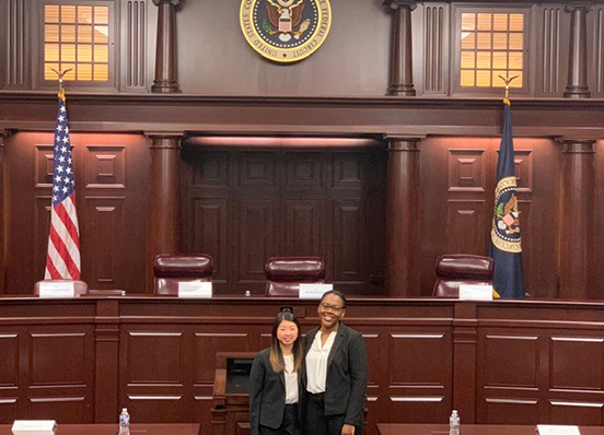 Emily Siegl and Savannah Merceus take Second-Best Oralist honors at National Saul Lefkowitz Moot Trademark Law Moot Court Competition in 2019