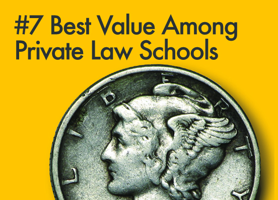 preLaw magazine ranks Kline School a Best-Value law school in 2017