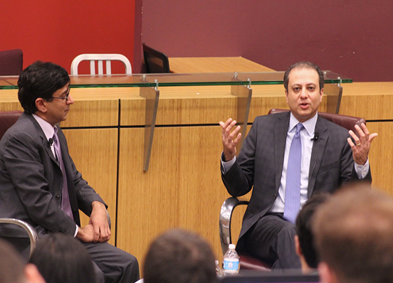 U.S. Attorney Preet Bharara and Professor Anil Kalhan