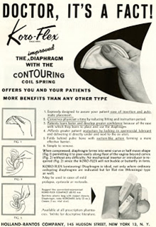 Drug advertisement for koroflex from the Medical Women's Journal, 1934. (The Legacy Center Archives and Special Collections)