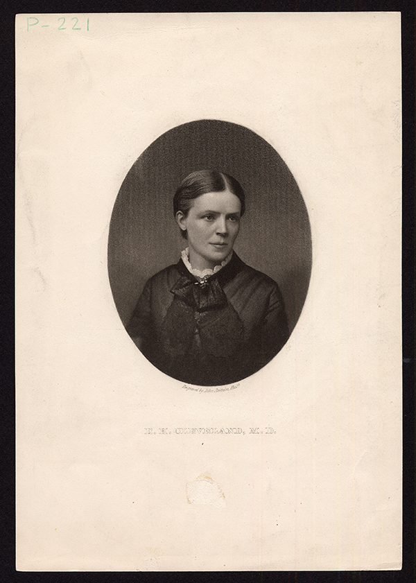 Potrait of Dr. Emeline Horton Cleveland. (The Legacy Center Archives and Special Collections)