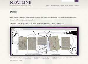 Neatline timeline tool (The Legacy Center Archives and Special Collections)