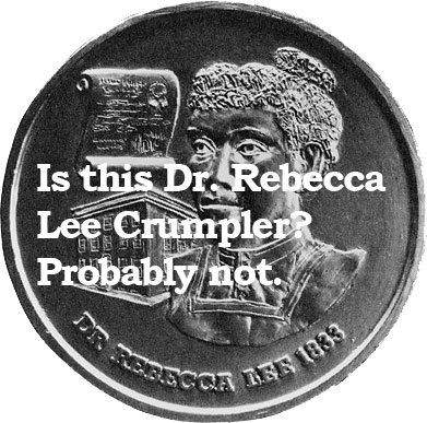 Dr. Rebecca Lee Crumpler coin (The Legacy Center Archives and Special Collections)