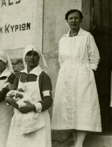Dr. Ruth Parmelee and nurse. Salonica, Greece, 1922 (The Legacy Center Archives and Special Collections)