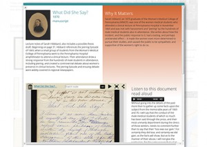 Doctor or Doctress story page (The Legacy Center Archives and Special Collections)