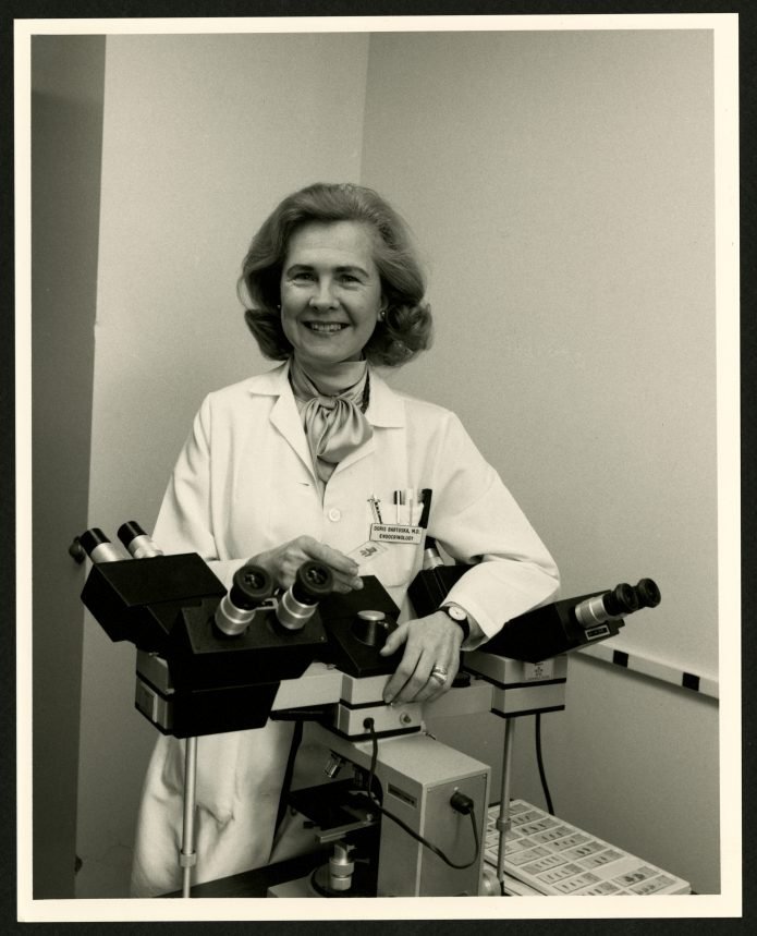 Doris Bartuska, MD circa 1987 (The Legacy Center Archives and Special Collections)