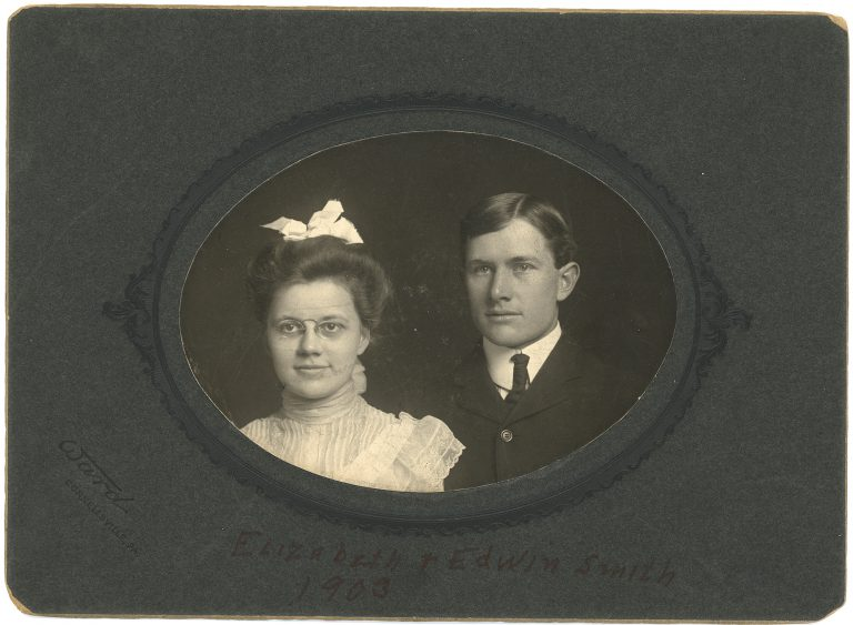 Elizabeth Cisney Smith and Augustus Edwin Smith around the time of their marriage, 1903 (Legacy Center Archives and Special Collections)