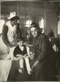 Dr. Charlotte Fairbanks, Chief Surgeon at Luzancy, France, circa 1918. (The Legacy Center Archives and Special Collections)