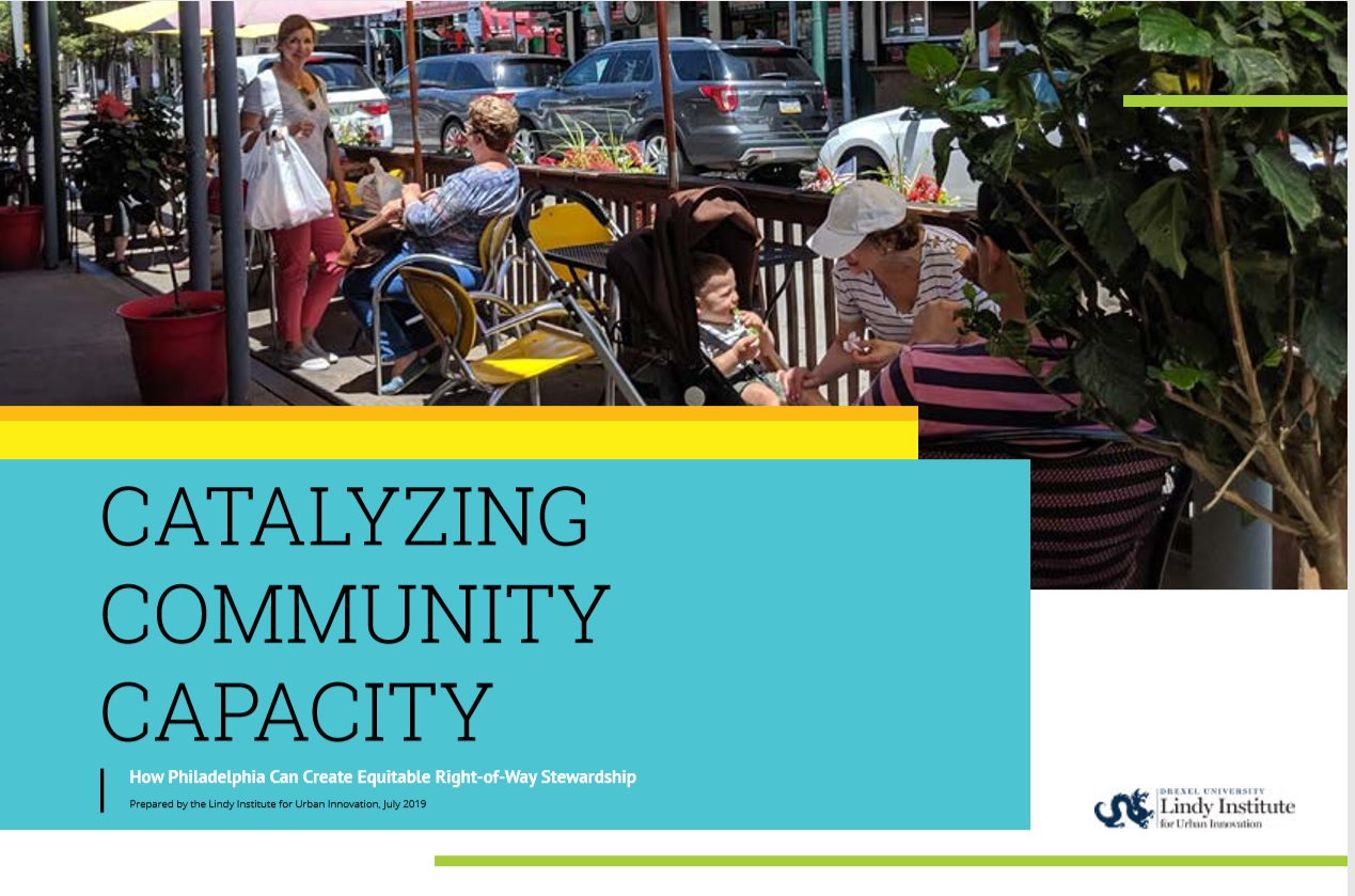 Cover page of Catalyzing Community Capacity