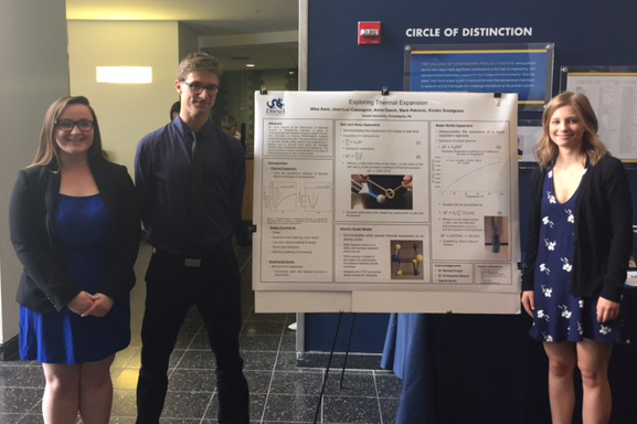 Materials students on winning freshman design team