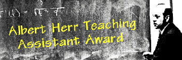 Albert Herr Teaching Assistant Award