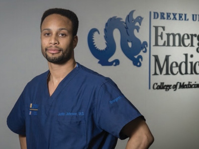 Justin Johnson, MD '13, is a trainee in the Drexel/Hahnemann Emergency Medicine Residency program.