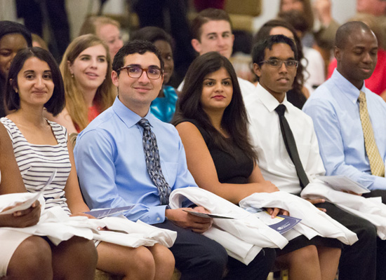 Drexel medical students at the annual White Coat Ceremony.