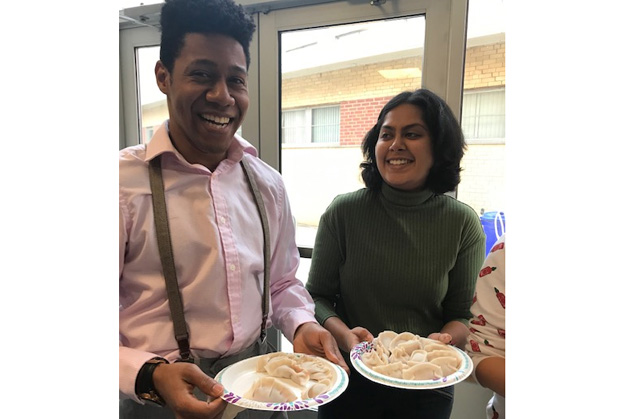 Drexel med students celebrate Chinese New Year by making dumplings with APAMSA on February 15, 2019.