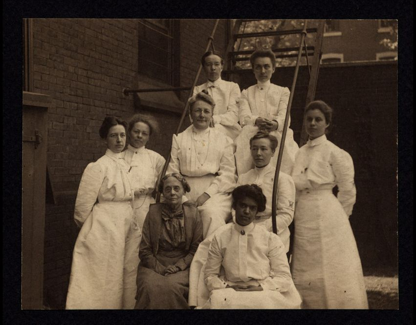 Interns at the Woman's Hospital of Philadelphia, 1903-04