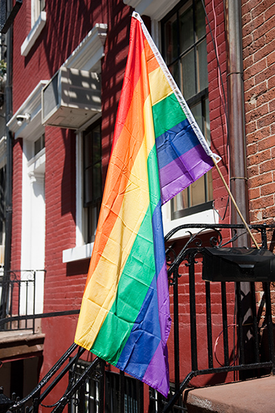 Pride Flag - Brick Row House
