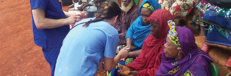 Drexel University College of Medicine students during a global health education experience abroad.