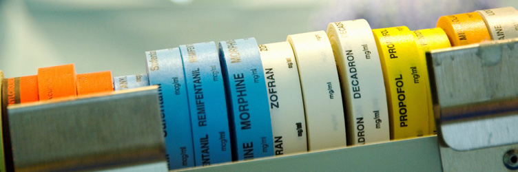 Anesthesiology and surgical drug labels.