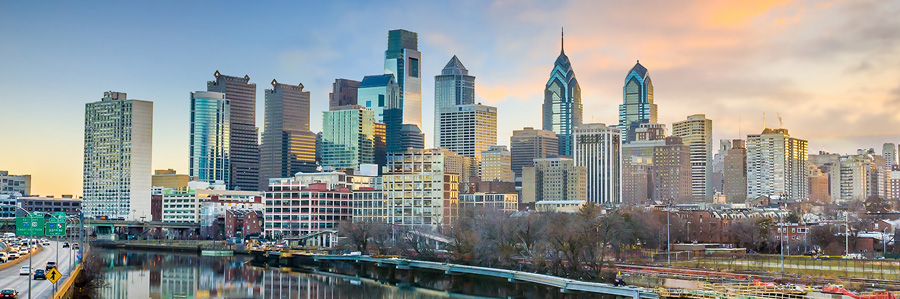 Downtown Skyline, Philadelphia, Pennsylvania